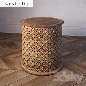 3d models table west elm carved wood side table With west elm carved coffee table