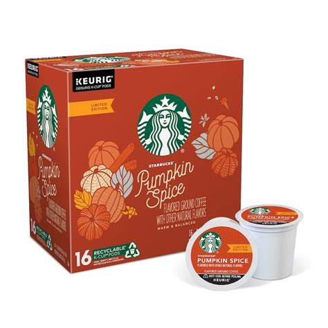 To inspire and nurture the human spirit — one person, one cup and one neighborhood at a time. Keurig® K-Cup® Pod Starbucks Pumpkin Spice Flavored Coffee ...