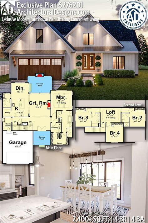 Plan 62762DJ: Exclusive Modern Farmhouse Plan Offering