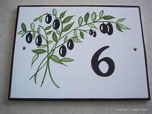 Plaque Numero Maison : plaques num ros de maison l 39 elephant blanc ~ Teatrodelosmanantiales.com Idées de Décoration