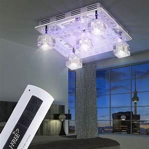 Decken Led Leuchte : decken leuchte glas w rfel wohnzimmer lampe kristall deko led leuchten direkt 50377 17 kaufen ~ Frokenaadalensverden.com Haus und Dekorationen