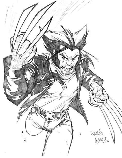 Wolverine Cartoony Sketch By Carlosgomezartist On Deviantart
