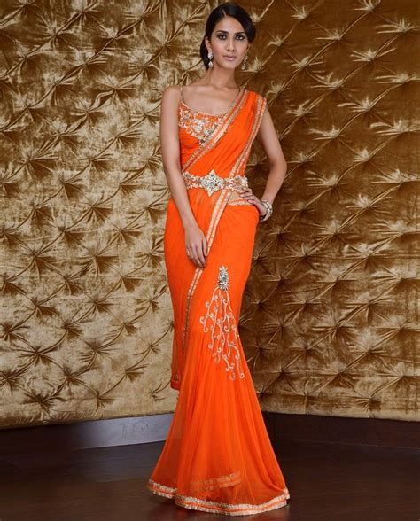 And Gold Sari orange and gold sari this beautiful color and that