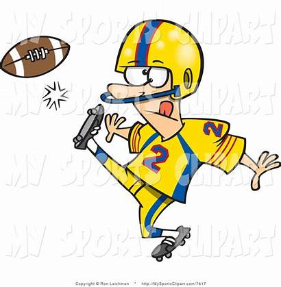 Football Clipart Clip Weekend Player American Kickoff