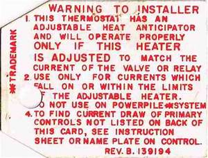 Heat Anticipator Settings On Room Thermostats  How  U0026 Why