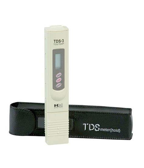 buy hm digital tds meter water purity tester with leather carry and temperature display