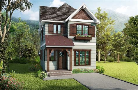 Narrow Lot House Designs by Cleverly Designed Narrow Lot House Plan 17805lv