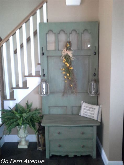 hometalk  door dresser turned hall tree