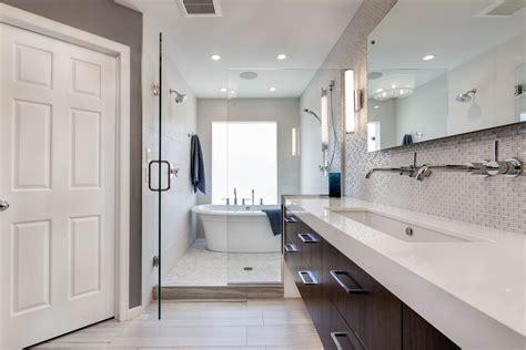 Modern Bathroom Remodels by Modern Master Bathroom Remodel 2 Mcdonald Remodeling