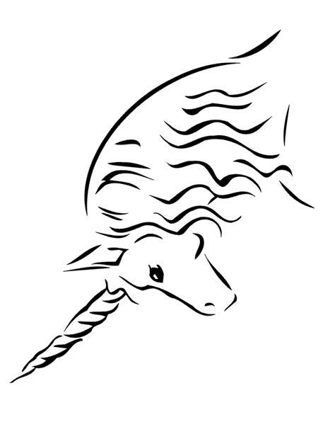 Unicorn Coloring Page   Side View Of Unicorn's Head - AZ
