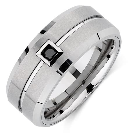 Tungsten Black Diamond Rings  Wedding, Promise, Diamond. Naira Engagement Rings. Lovely Wedding Wedding Rings. Themed Wedding Wedding Rings. Non Traditional Wedding Wedding Rings. World Warcraft Wedding Rings. Three Wedding Rings. Cross Design Wedding Rings. Current Engagement Rings
