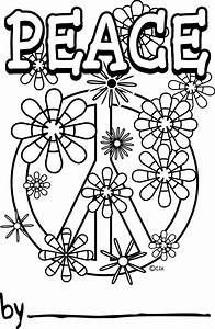 peace sign coloring pages - peace sign