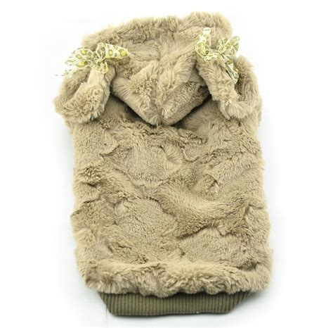 puppy dog coats cute soft plush warm winter dog hoodie small dog