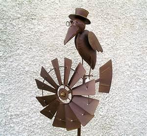 Decoration Jardin Metal : raven propeller wind wrought iron ~ Teatrodelosmanantiales.com Idées de Décoration