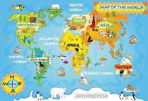 Kids World Map Within World Maps For | Pix Gallery | Pinterest