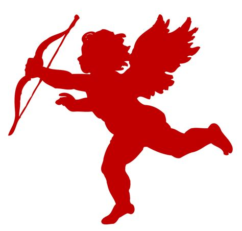 Cupid Clipart Vintage Clip Poems Of Silhouette Cupid The