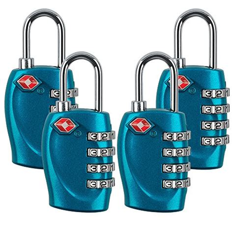 4 digit tsa approved travel luggage locks combination