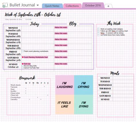digital bullet journal template digital bullet journals