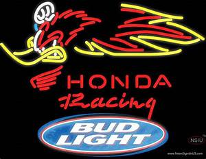 Bud Light Logo Honda Racing Woody Woodpecker Crf , Neon ...