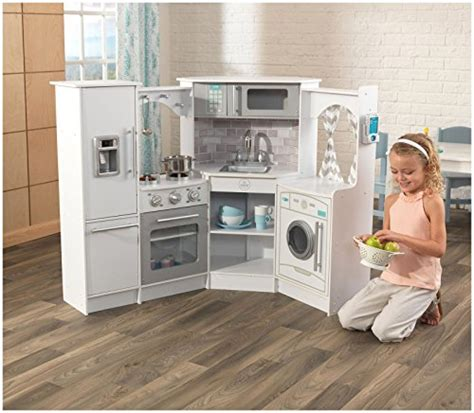 play kitchen with sounds and lights kidkraft ultimate corner play kitchen with lights sounds 9143