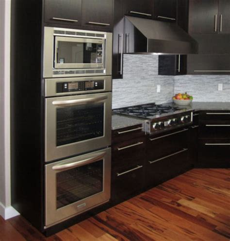positioning  wall oven microwave stove top modern