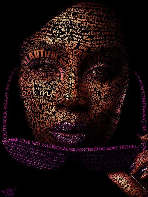 50 amazing typographic portraits beautiful text art designmodo