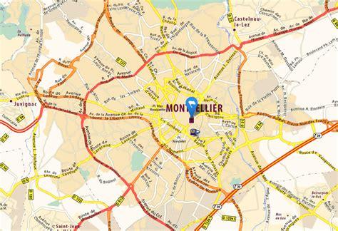 Carte Sud Montpellier by Montpellier Carte Et Image Satellite