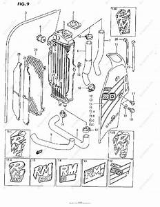 Suzuki Motorcycle 1986 Oem Parts Diagram For Radiator  G  H