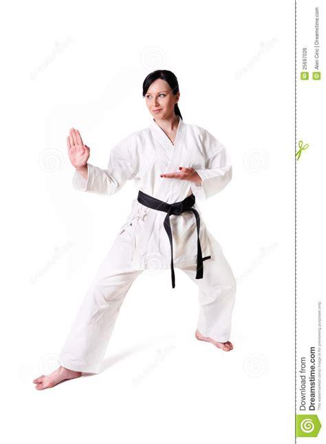karate woman posing royalty  stock image image