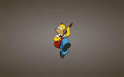 Simpson Simpsons Bart Homer Wallpapers Guitar Cartoon