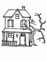 Haunted Coloring Pages Tree Spooky Mansion Dead Beside Print Template Colorings Printable Sheets Halloween Getcolorings Trees Sun Colori Getdrawings Utilising sketch template