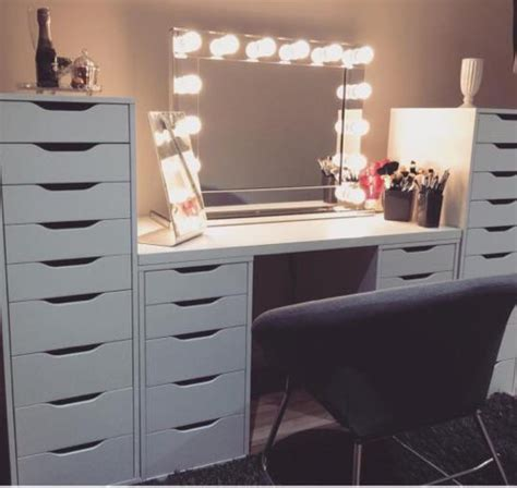 Makeup Vanity With Lights by Ikea Alex High Drawer Unit With 9 Drawers White Home