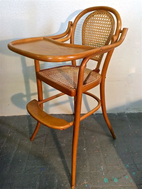 thonet bentwood infant baby highchair with original