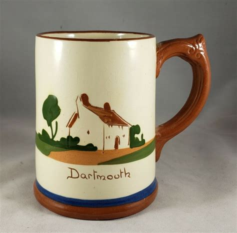 The interior of my handmade pottery cups was left to play with. Vintage Dartmouth England ( Near Devon ) Pottery Coffee Mug / Tea Cup or Pen Holder. English ...