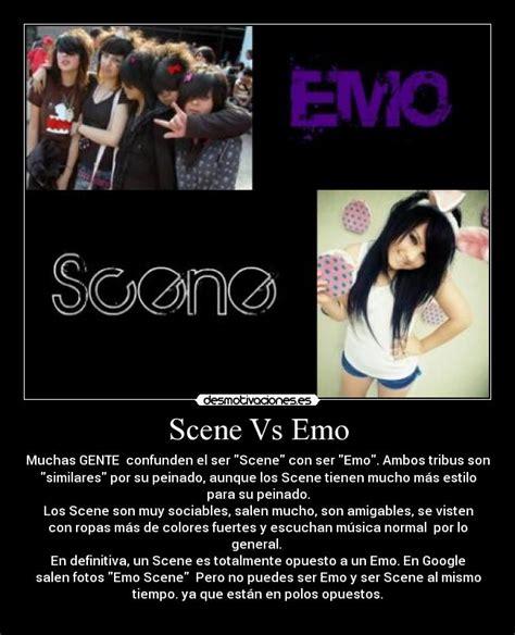 Scene Vs Emo Desmotivaciones