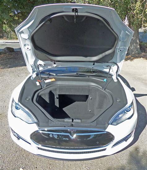 tesla inside hood iveho 2014 tesla model s p85 test drive