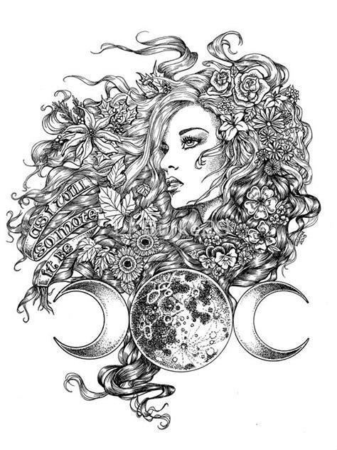 The Goddess - Seasons | Photographic Print | Goddess tattoo, Wiccan tattoos, Tattoo designs