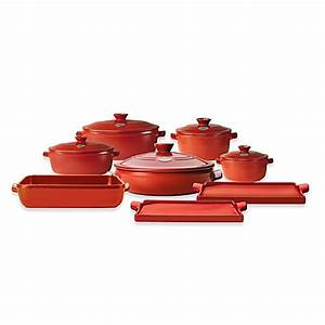 Emile Henry Flame® Top Open Stock Cookware in Red - Bed ...