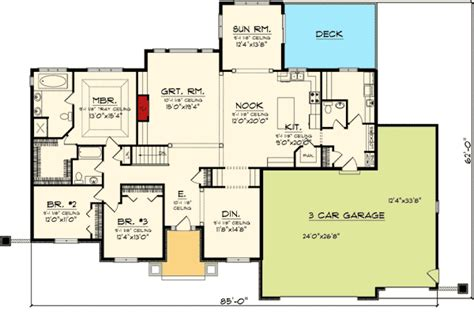 sunroom floor plans ranch home plan with sunroom 89871ah 1st floor master suite butler walk in pantry cad