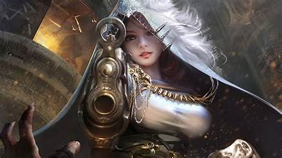 Warrior Fantasy Digital Wallpapers Gunslinger Hood Gun