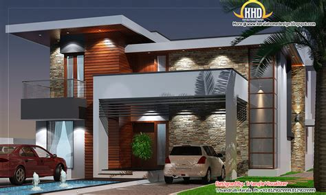 contemporary floor plans modern house elevation 2831 sq ft kerala home design