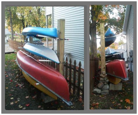 how to make a kayak rack build boat cool diy kayak canoe rack