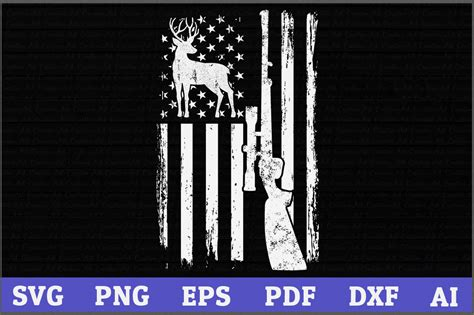 A printable pdf version of the flag is also available. Deer Hunting American Flag (Graphic) by AartStudioExpo ...