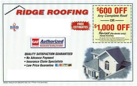 11782 Pocketsmith Coupon by Ridge Roofing Coupon For