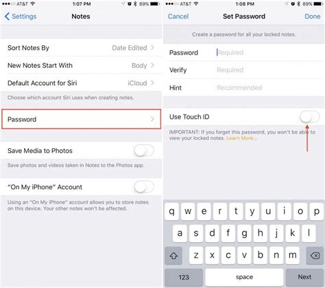 how to display iphone on mac how to password protect notes in ios 9 3 and os x 10 11 4 1045