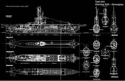 Xxiii German Plans Ww2 Navy Boats Submarine