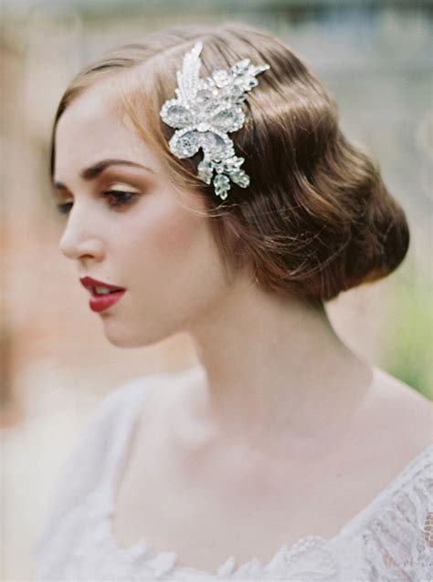 Bridal Hair Accessories by 1920 S Inspired Bridal Hair Accessories Junebug Weddings