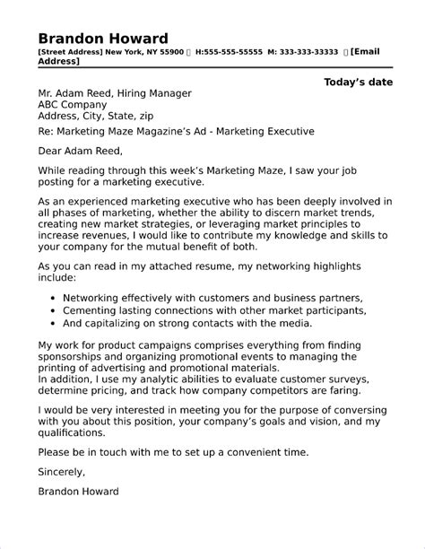 Regional Manager Cover Letter by 40 Free Cover Letters For Sales And Marketing