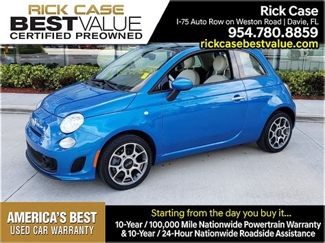 Rick Fiat by Used Car Specials From Rick Fiat Used Fiat Specials