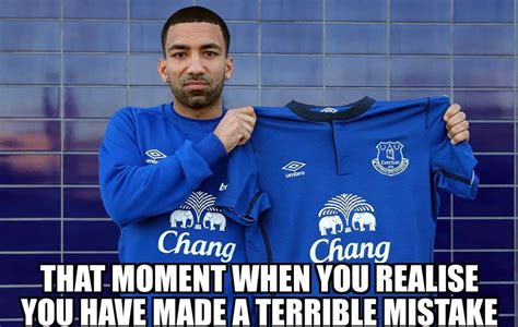 Everton Memes - aaron lennon tells everton tv he s quot over the moon quot with tottenham loan his face says otherwise